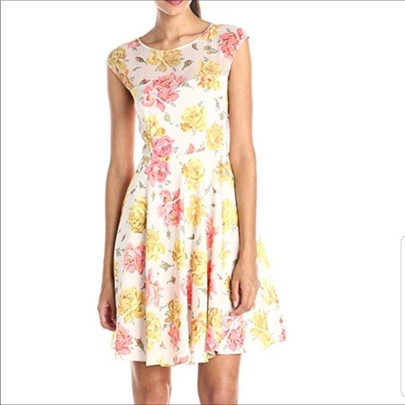 Betsey Johnson | Chiffon Floral Fit & Flare